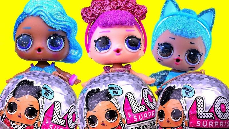 2 Золотых Шара, Bling Series LOL Surprise Doll, 2 Куклы Королевы и Кошечка ЛОЛ, Подарки Сюрпризы