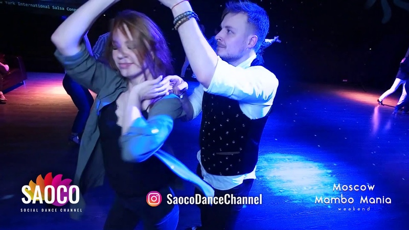 Denis Abramenkov and Alita Bru Salsa Dancing at 2nd Moscow MamboMania weekend 2019 Sun 10 03 19