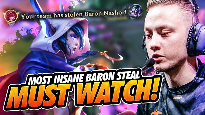 Rekkles | ADC Xayah MOST INSANE BARON STEAL - MUST WATCH!