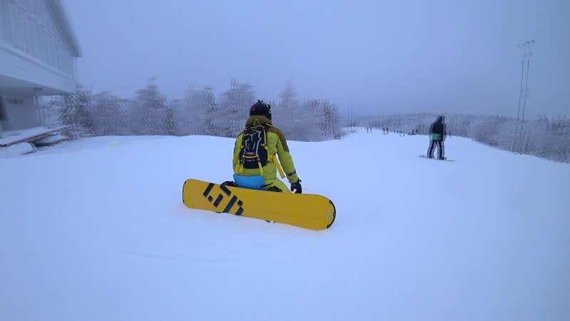 Snowboarding freeride, GK White Mountain 02.01.2019 Перезалив!