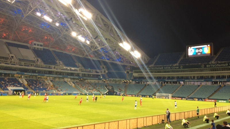 Болеем за ФК Сочи на стадионе Фишт