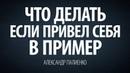 Что делать, если привел себя в пример. Александр Палиенко.