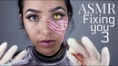 ASMR Fixing You 3 3DIO Gloves sounds Ear cleaning Face Brushing Scratching sounds and