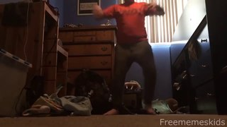 Original Orange Shirt kid dance meme / Some fat fortnite kid dancing