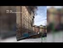 Пожар в пятиэтажке на Игримской