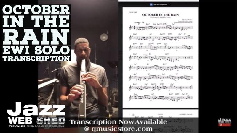 October In The Rain EWI Solo Transcription