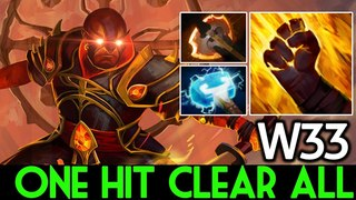 W33 [Ember Spirit] One Hit Clear All 7.16 Dota 2