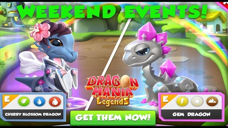 Weekend Events! Gem Dragon Wooly Dragon , Dragon Mania Legends | 1333 HD