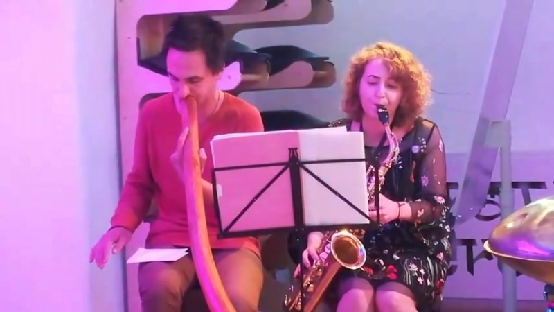 Saxophone and Didgeridoo.The Old Castle. Viktoria Vear and Ladomir Trunov