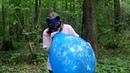 Blowing and deflating custom printed TufTex 17 balloon no pop