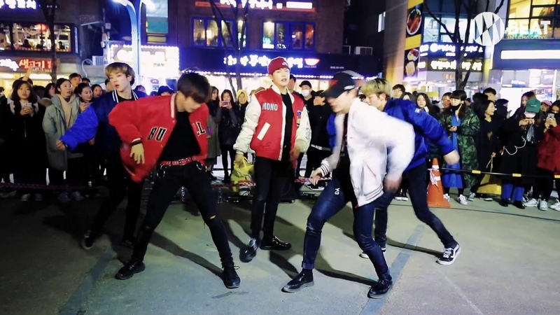 EXO - 으르렁(Growl) Monster Dance cover Busking in Hongdae