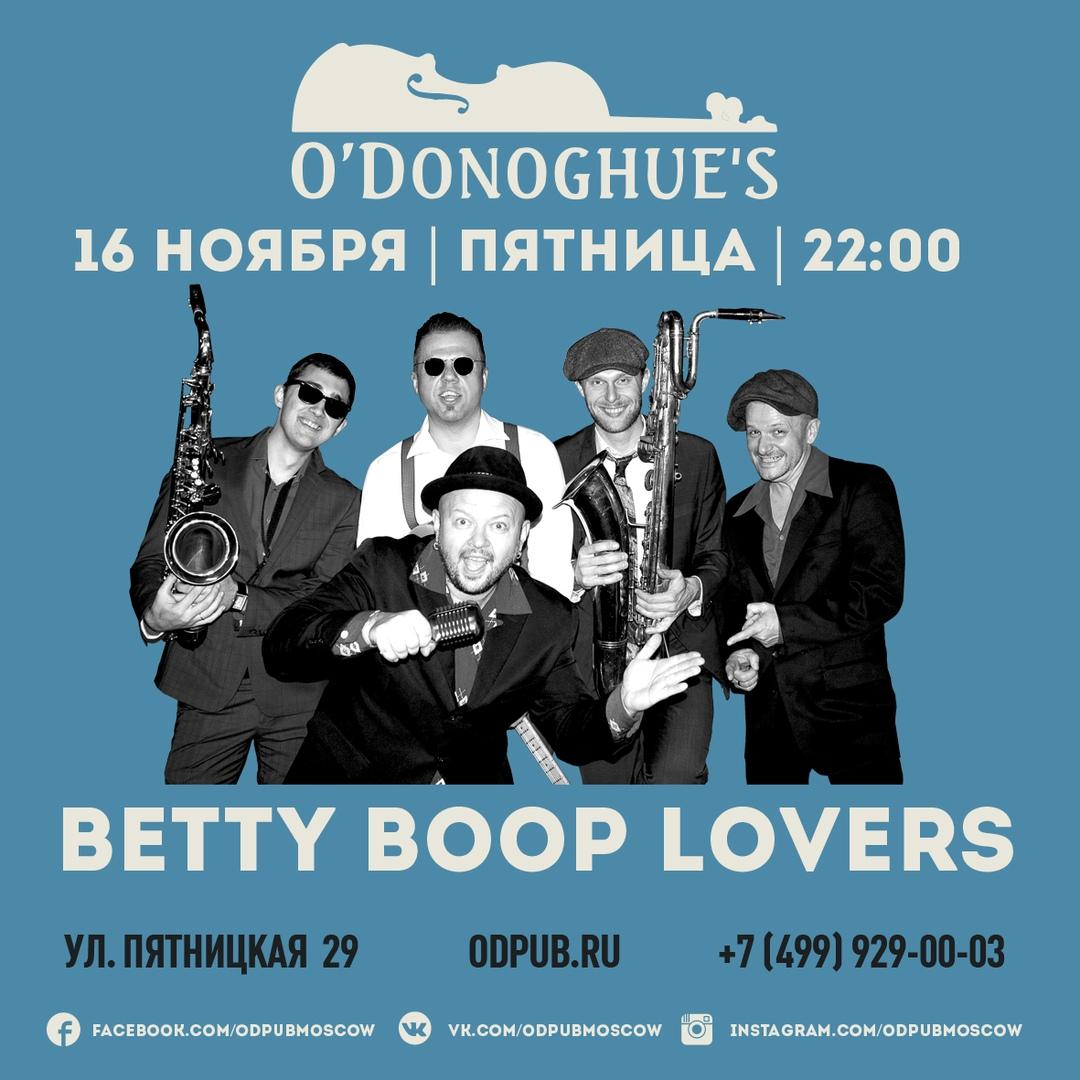 16.11 The Betty Boop Lovers в O'Donoghues Pub!