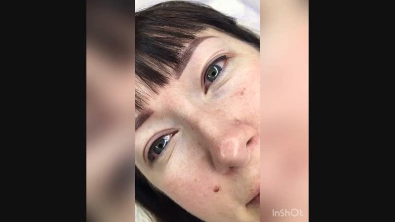 Перманентный макияж. Бровки и межресничная стрелочка Петрозаводск