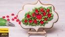 Как украсить имбирный пряник розочками из айсинга