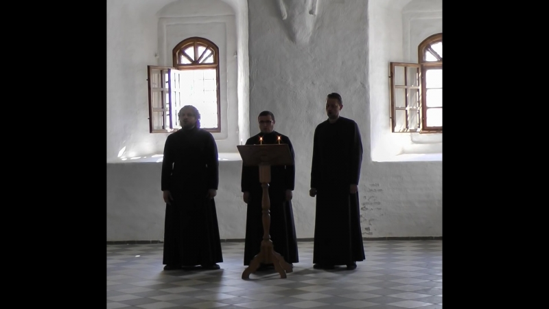 Праздничный хор Александро-Свирского монастыря.