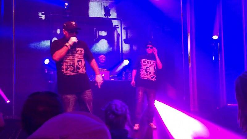 BAD BALANCE в составе ШeFF, Al Solo и DJ Топор исполнили трек Отвечай за слова в Риге. (13 апреля 2018 г.)