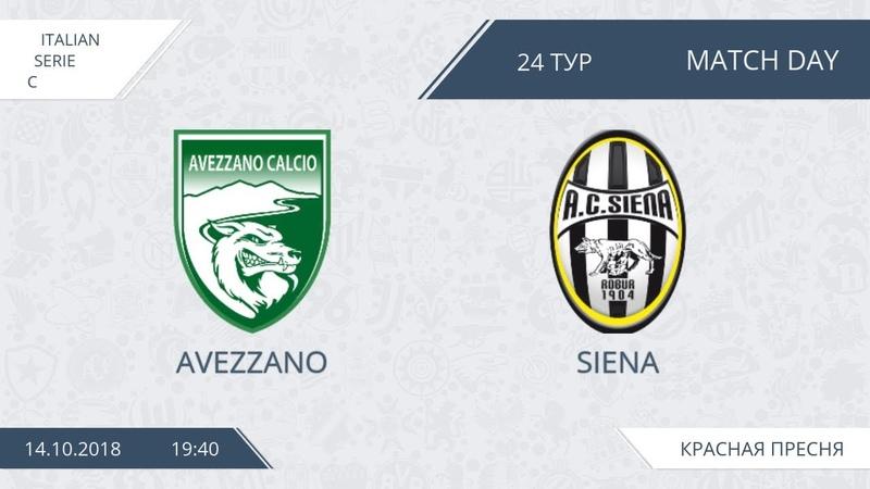AFL18. Italy. Serie C. Day 24. Avezzano - Siena