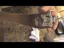 Шлифовка ремня для правки опасной бритвы Strop honing