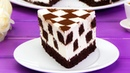 """Идеальное сочетание нежного бисквита и творожного крема торт """"Шахматная доска"""""""