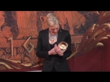 2009 Renee Zellweger receiving her Pudding Pot as the Hasty Pudding Woman of the Year in 2009