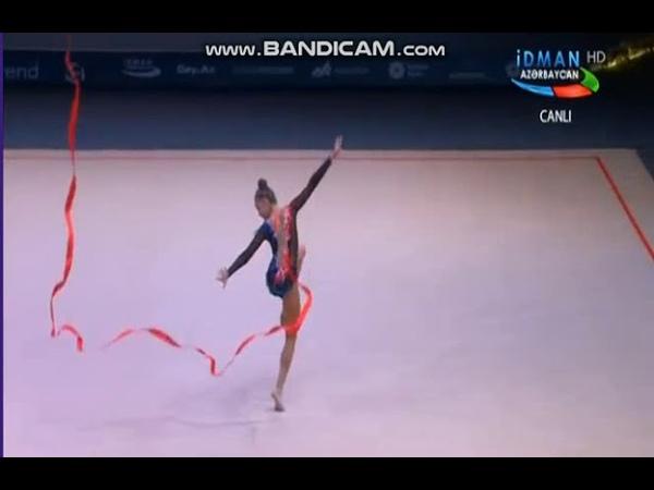 Арина Аверина лента многоборье Этап Кубка Мира,Баку 2019