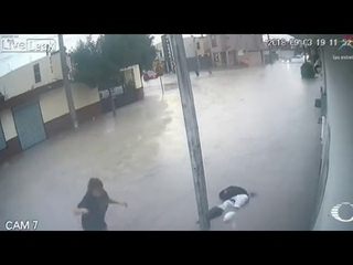 12 year old student electrocuted by touching pole in flood