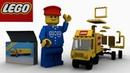 Видео лего.Про лего. Lego 6692 Tractor Trailer. Лего мультик для детей.LEGO animation