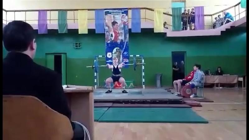 Калесникович, толчок 73 кг
