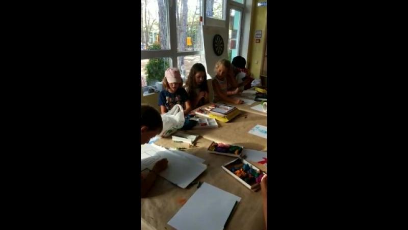 Фрагмент 3 занятий в мультипликационной студии. 18.07.18