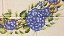 Техника ОДНОГО МАЗКА:цветущее дерево и веночек гортензии