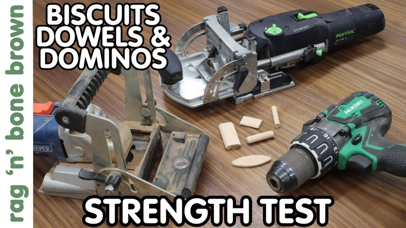 How Strong Are DOWELS vs DOMINOS vs BISCUITS Strength Test