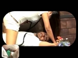 Girl dominates while her feet is in his balls
