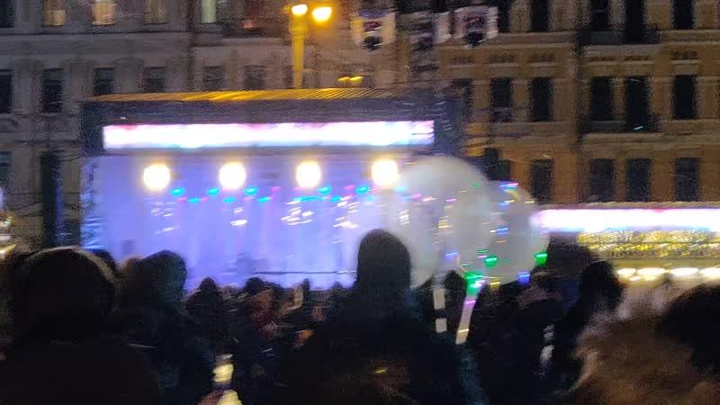 Киев 01 января 2019г в 18 00 Софиевская пл наступил Новый год