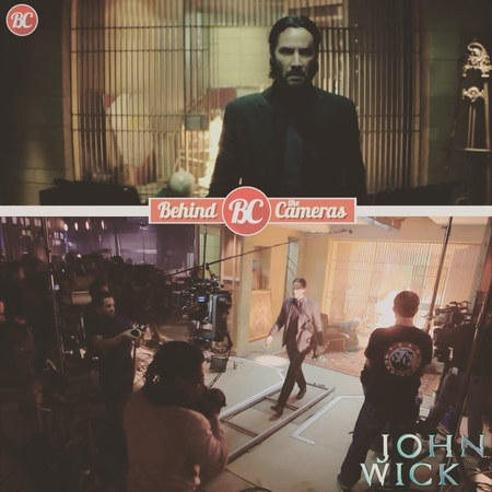 """Behind the Cameras on Instagram: """"Behind the scenes of """"John Wick"""" Chad Stahelski, David Leitch (2014) • • • behindthecameras filmmaking behindt..."""