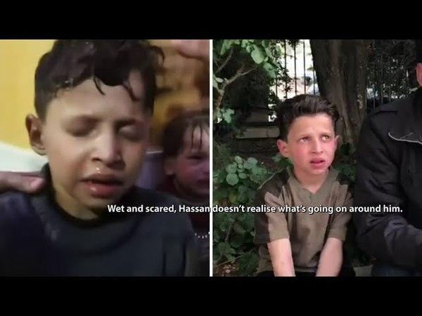 Syrie : L'enfant soi-disant victime d'une attaque chimique raconte que tout est faux (18/04/18)