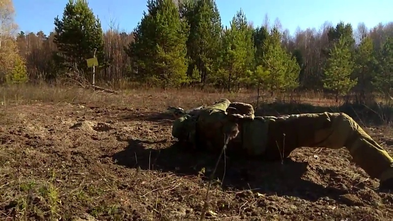 Наработка уходов со стрельбой по мишени