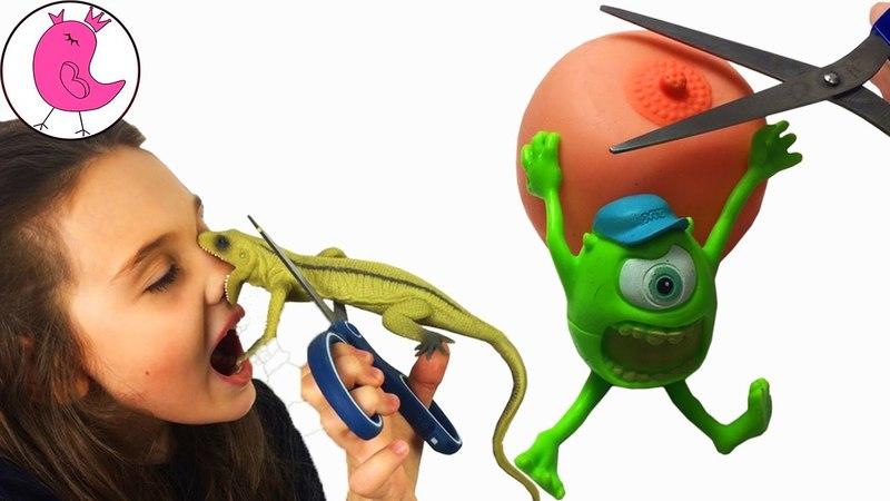 РЕЖЕМ ИГРУШКИ АНТИСТРЕСС ЛИЗУН Дешевые vs дорогие Что внутри у Энгри Бердс и ящерицы? Antistress Toy