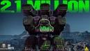 2.1 Million Damage With MRK II Fury Thunder   Spawn Raid Destruction   War Robots