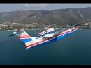 Посадка гидросамолета БЕ 200ЧС в бухту Геленджика