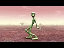 Танцует зеленый человек под музыку*Я мишка гумибер*