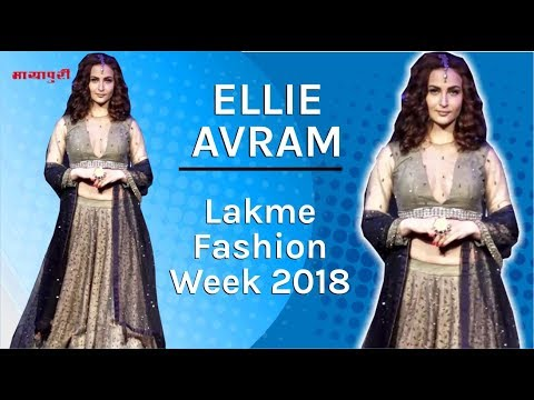 """Ellie Avram"" Ramp Walk At ""Lakme Fashion Week 2018"" 