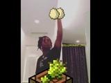 Lil uzi vert making a minecraft cake