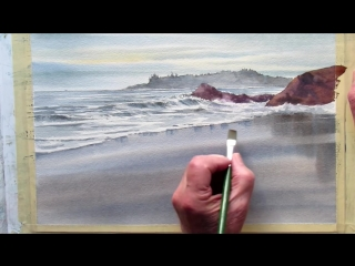 2 painting wet sand in watercolor Grant Fuller