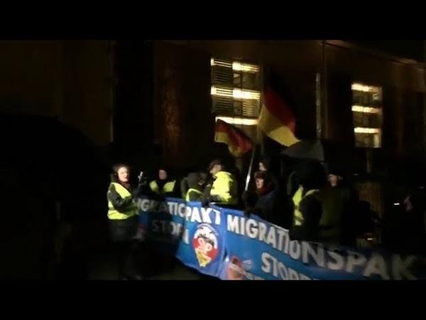 95. AfD Demo Merkel MUSS weg mit Franz Wiese AfD. 09.01.2019