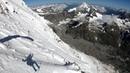 Speedflying from summit ridge of Matterhorn