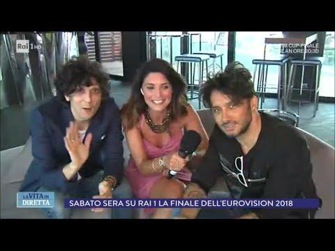 Meta e Moro il messaggio dall'Eurovision Song Contest La vita in diretta 09 05 2018
