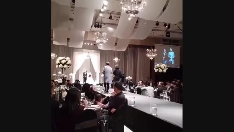 [IG] 181202 Ёнджэ на свадьбе сотрудника из стаффа JYPE