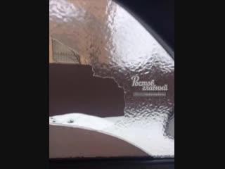 Лёд на стекле авто 11.1.2019 Ростов-на-Дону Главный
