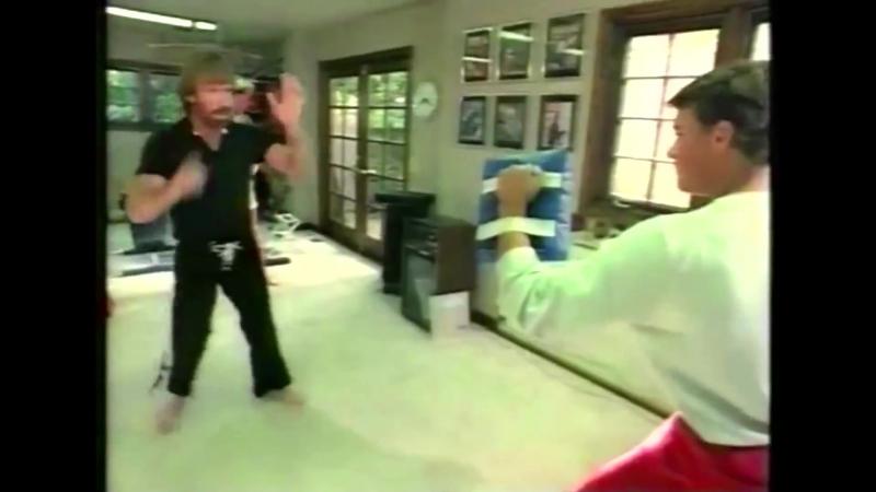 SLs VAN DAMME and CHUCK NORRIS - Martial Arts Training (1984)