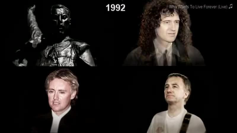 QUEEN AGING TOGETHER 1968-2018 Faces Songs Each Year
